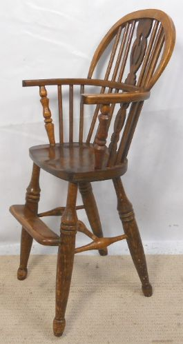 Child's Windsor Beech & Elm Comb-back High Chair